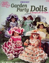 "13"" Garden Party Dolls Dresses Crochet PATTERN/Instructions Booklet 5 De... - $3.57"