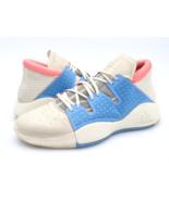 Adidas Mens 12 Pro Vision White Bahia Light Blue Solid Basketball Sneaker Shoes  - $44.99