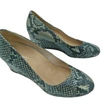 "Vionic Orthaheel ""Antonia"" Wedge Pumps Size 8.5 Natural Snakeskin Emboss... - $39.84"