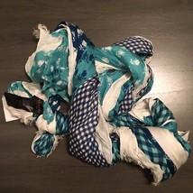 """NWT Coach Blue Floral Badlands Patchwork Scarf 50"""" x 70"""" Shawl 85813 MSR... - $99.99"""