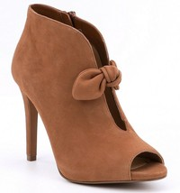 MICHAEL Michael Kors Pippa Suede Bow Detail Peep-Toe Booties, Multi Size... - $111.96