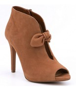 MICHAEL Michael Kors Pippa Suede Bow Detail Peep-Toe Booties, Multi Size... - $111.96