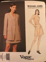 Vogue 1489 Michael Kors Sewing Pattern 12-14-16 Jacket & Skirt - $21.12