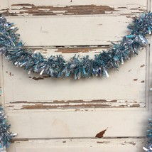 AGD Christmas Decor - Blue White Silver Frozen Lighted Tinsel Garland 8ft - $21.95