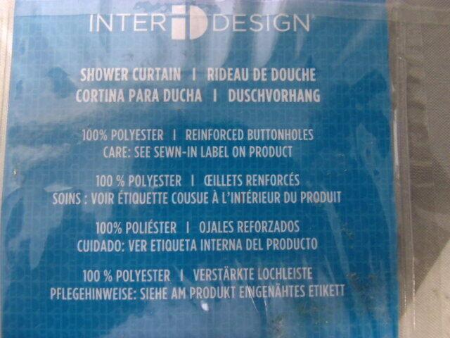 InterDesign  Daizy Shower Curtain, Gray and Yellow, 72 Inch x 72 Inch