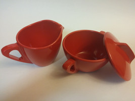 Prolon Ware Melamine Sugar Bowl with Lid and Cr... - $10.89