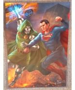 Superman vs Doctor Doom Glossy Art Print 11 x 17 In Hard Plastic Sleeve - $24.99