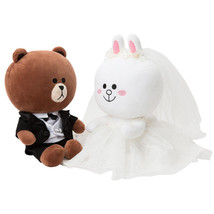 Korea LINE Friends BROWN & CONY Wedding Doll Set Character Costumes Edition - $3.799,80 MXN