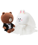 Korea LINE Friends BROWN & CONY Wedding Doll Set Character Costumes Edition - $186.98