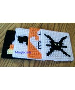 Halloween Coasters, Plastic Canvas, Handmade, Cross Stitch, Square Coasters - $15.00