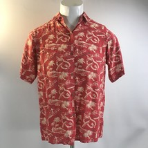 Reyn Spooner Hawaiian Hula Tiki Button Down Short Sleeve Shirt Mens Size... - $29.37