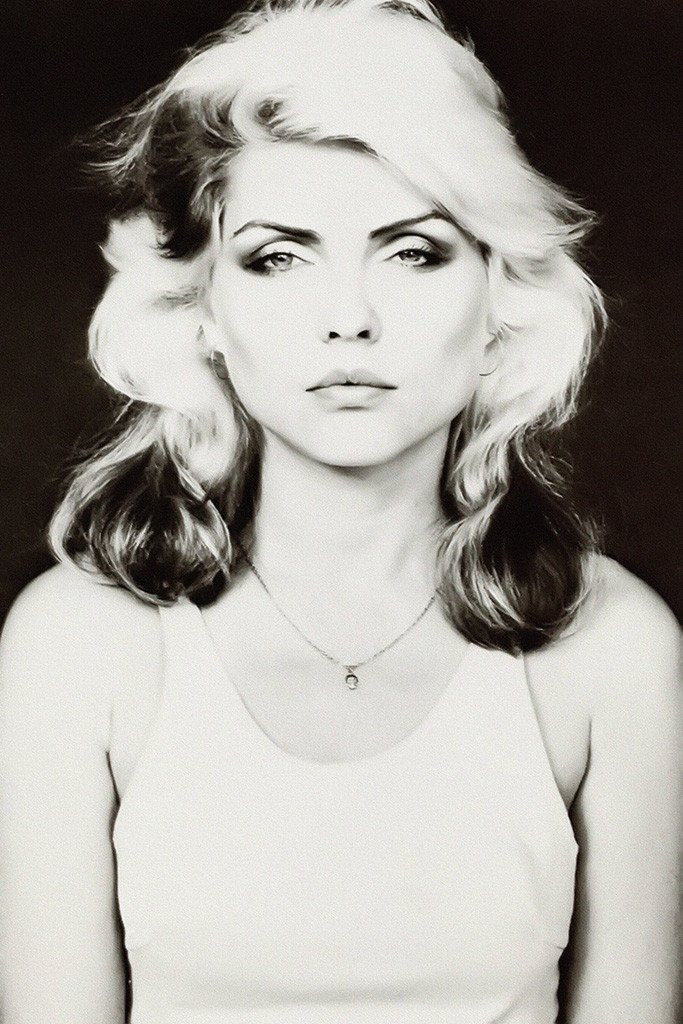 Blondie poster black and white