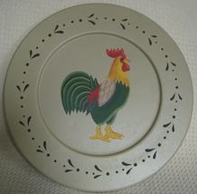 Wood Plate RPL10 Chicken Rooster Plate  - $9.95