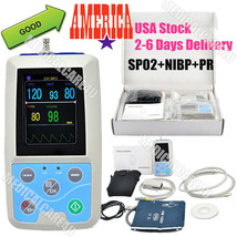 Handheld Patient Monitor 24 Hours Ambulatory Blood Pressure Monitor SPO2... - $197.01