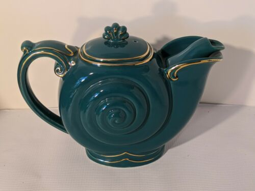 Primary image for Hall Nautilus Teapot Turquoise Blue Collector Quality 6 Cup - Perfeft