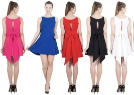 Mini Dress with Long Bow at the back- available in 5 Different shades-L ... - $49.99