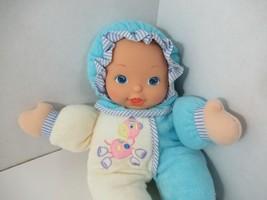 City toys Plush soft blue terry cloth baby doll pink horse giraffe vinyl... - $19.79