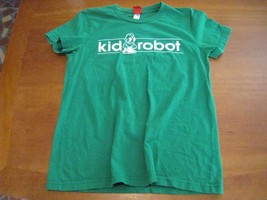 """genuine Kid Robot t-shirt tee YOUTH XL (24"""") clean GREEN cotton used Kid... - $14.82"""