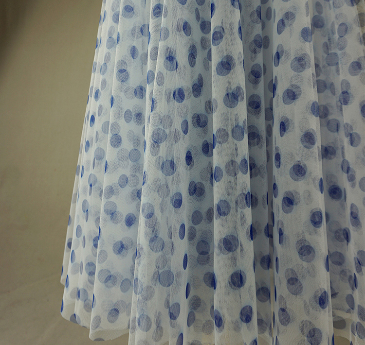Tulle skirt blue dot 9