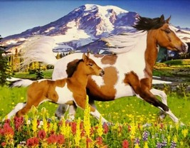 100 Piece Jigsaw Puzzle by Puzzlebug 9 x 11 - Lewitzer Mare Galloping Wi... - $4.99