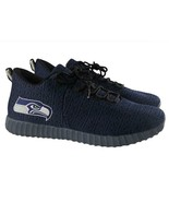Seattle Seahawks Mens Shoes Size 10 Poly Knit Light Up Sneakers NFL Rechargable - $64.98