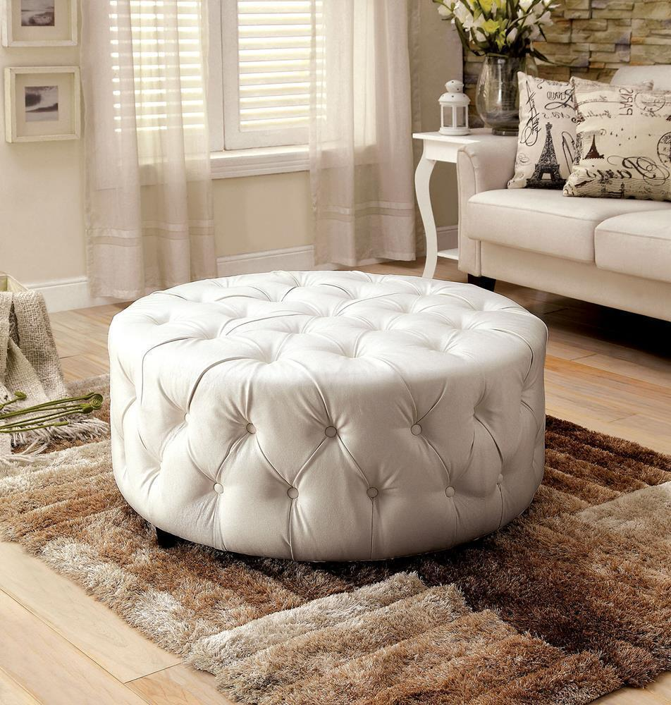 Collingwood Diamond Button Tufted 36 Inch Round Cocktail