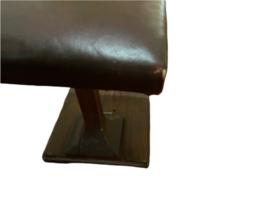 Primitive Vintage Handmade Wood Shoe Shine Stand Stool Post Footrest Foot Rest image 4
