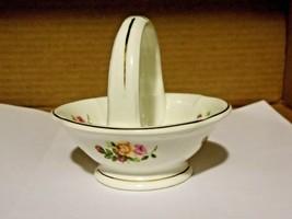 Vintage Ashleydale Fine Bone China England - Rose Floral Basket - $12.82