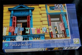 BRAND NEW FACTORY SEALED 500 PiecePuzzlebug Jigsaw Puzzle Colorful Houses - $6.92
