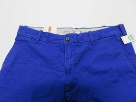 NOS w/ TAGS IZOD Saltwater Mazarine Blue Men's Straight Fit Pants Size W34 L29 image 7