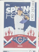 2015 Topps Spring Fever Promo #SF-7 Anthony Rizzo Chicago Cubs Baseball ... - $0.98