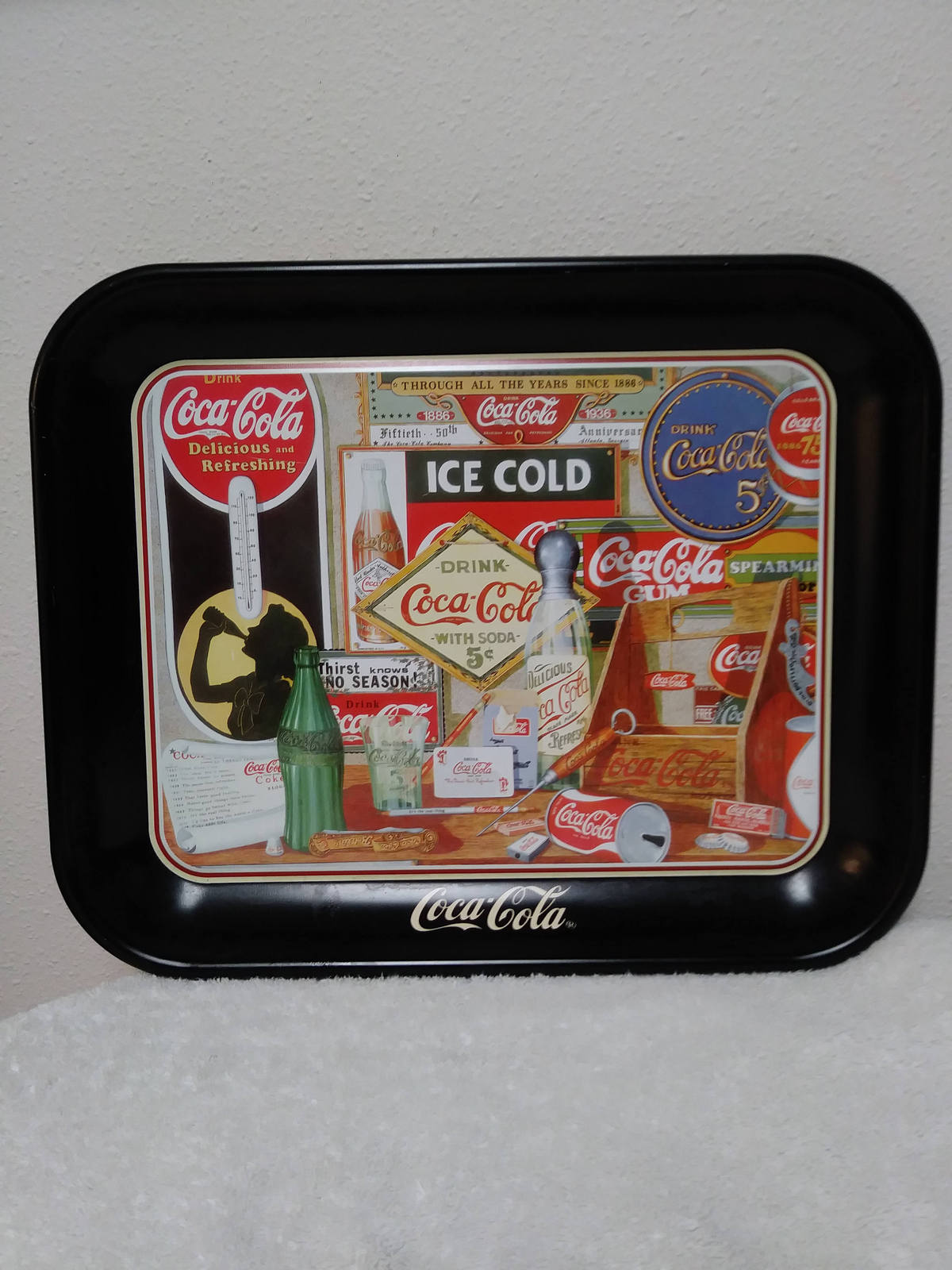 Coca Cola Tray by Sandra E Porter 1982 Through All The Years Since 1886