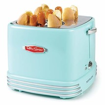 Nostalgia Retro Pop-Up 4 Hot Dog and Bun Toaster With Mini Tongs, Works ... - £34.37 GBP