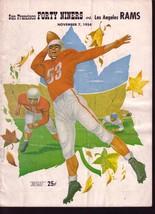 S F 49ERS VS LOS ANGELES RAMS NFL FOOTBALL PROGRAM 1954 VG - $88.27