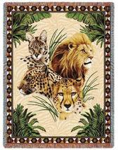 70x53 Jungle Leopard Lion Cheetah Lynx Tapestry Throw - ₹4,266.87 INR