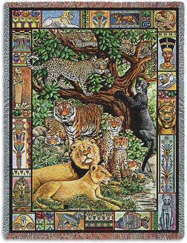 Throw lion tiger leopard venerable cats  5583 t