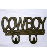 Country Western Iron Cowboy Hook Plaque - $12.95