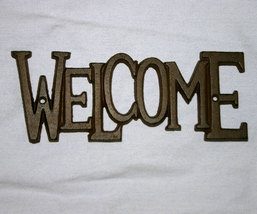 Country Western Iron Welcome Plaque Sign - $12.95