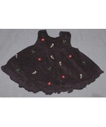Navy Holiday Dress 3-6 mos - Candy Canes Holly ... - $7.50