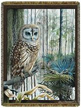68x48 Swamp OWL Bird Wildlife Tapestry Throw Blanket - $50.00