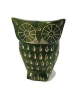 """Vintage Owl Green Figure Sculpture Hand Carved Jade Marble 3.5"""" tall - $24.74"""