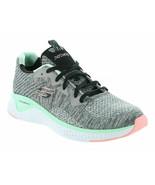 Womens Skechers Solar Fuse Brisk Escape Sneaker - Gray/Multi [13328/GYMT] - $69.74