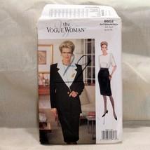 Vogue Woman Sewing Pattern Sz 12 14 16 Jacket Dress Suit Uncut FF #8602 Vintage - $16.99