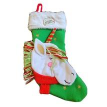 "NWT Animal Christmas Stocking  Unicorn 16"" Stocking Gifts Holiday Kids, ... - $12.36"