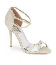 Badgley Mischka Dominique Platino Metallic Women's Evening High Heels Sa... - $183.15