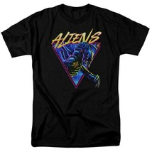 Aliens Movie T-shirt Horror Action Sci Fi Alien Black Tee Retro 70s 80s TCF731 image 1