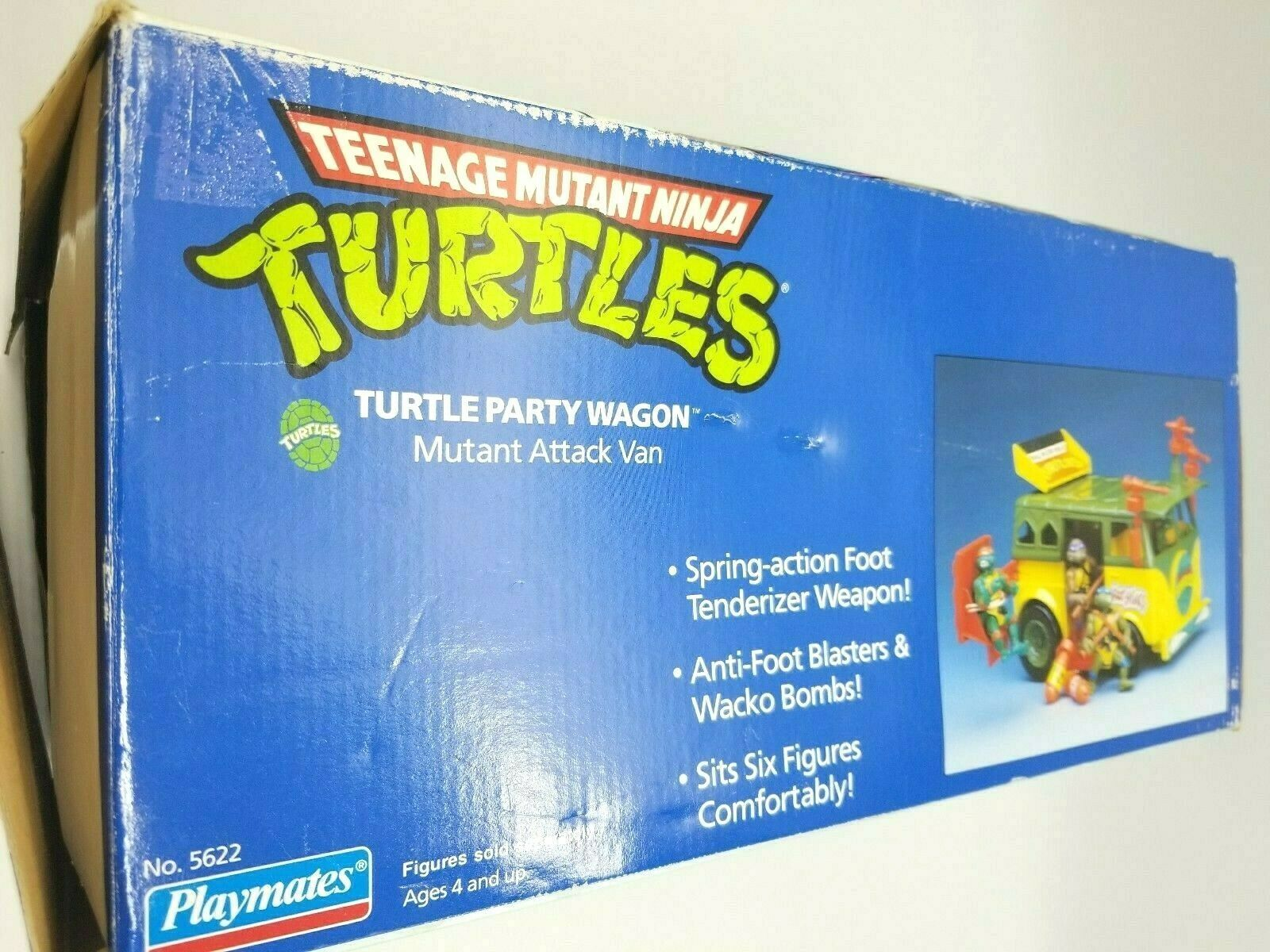 Teenage Mutant Ninja Turtles 1989 Party Wagon Mutant Attack Van In Damaged Box