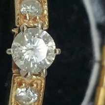 Estate 14kt Yellow Gold .70ct Solitaire Old European Cut Diamond Ring,1950s - $2,376.00