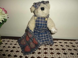 Boyds Bears Quilt Patch Bear Camomille Q. Quignapple 9.5 inch - $67.50