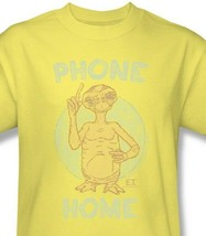 E.T. T-shirt Phone Home yellow 1980's vintage style cotton tee movie UNI542 image 2